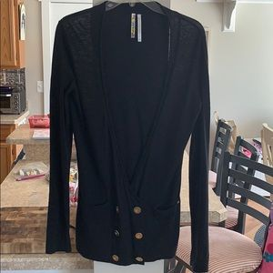 O'NEILL Double Breasted Black Women's Cardigan L